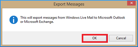Export message