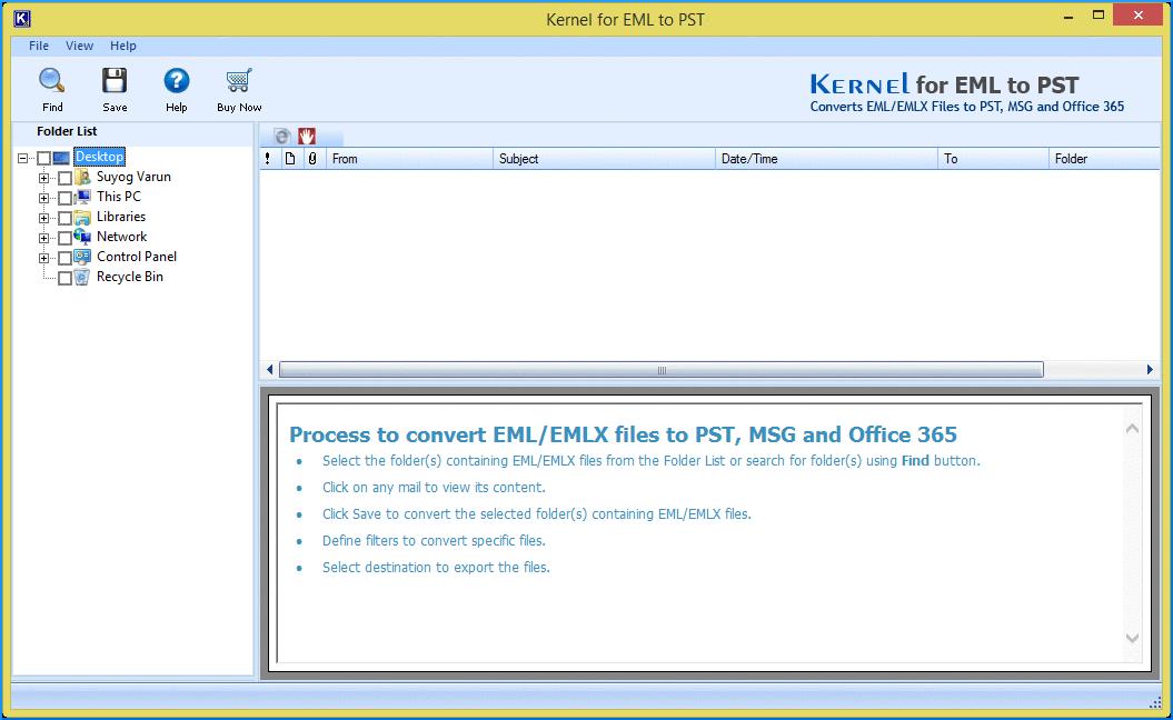 Kernel for EML to PST converter tool