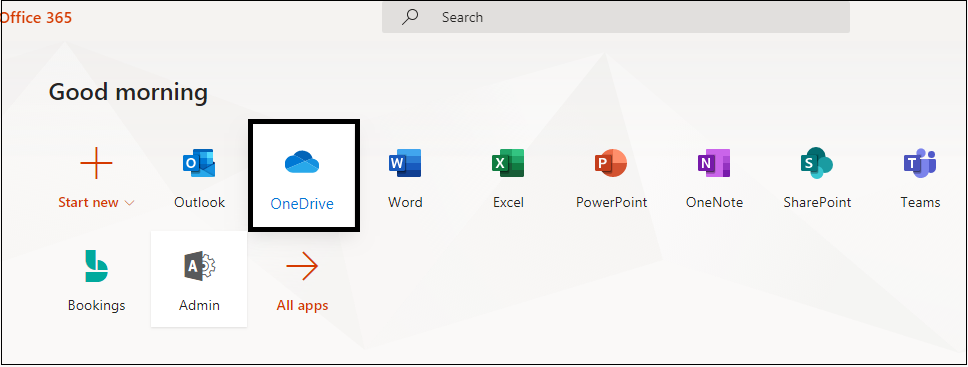 Click on OneDrive application to open