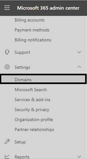 select the Domains