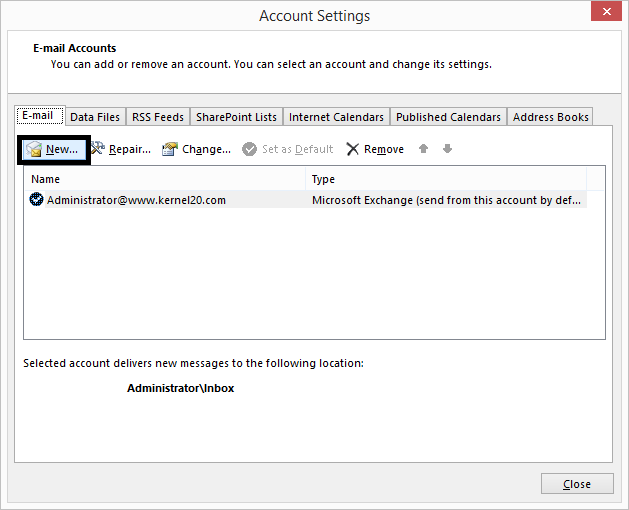 Go to Account Settings page