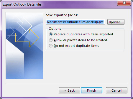 Export Old Mail history