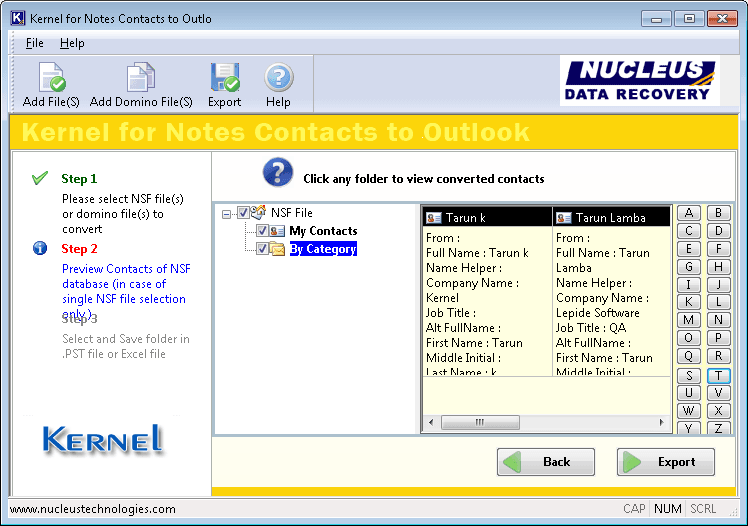 Lotus Notes Contacts to Outlook converter software
