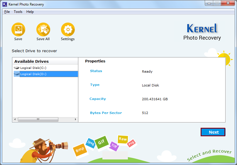 Kernel Photo Recovery Tool