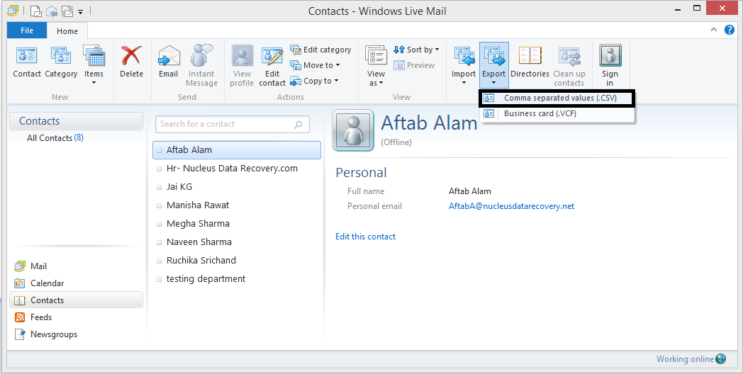 Start Windows Live Mail