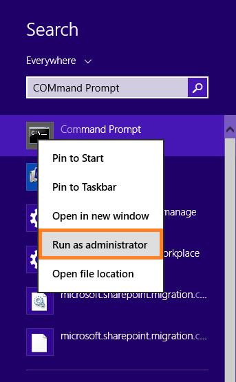 Run command as administrator