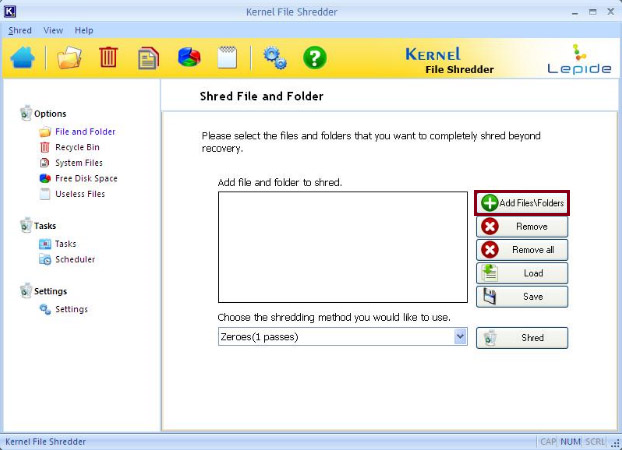 Launch File Shredder software