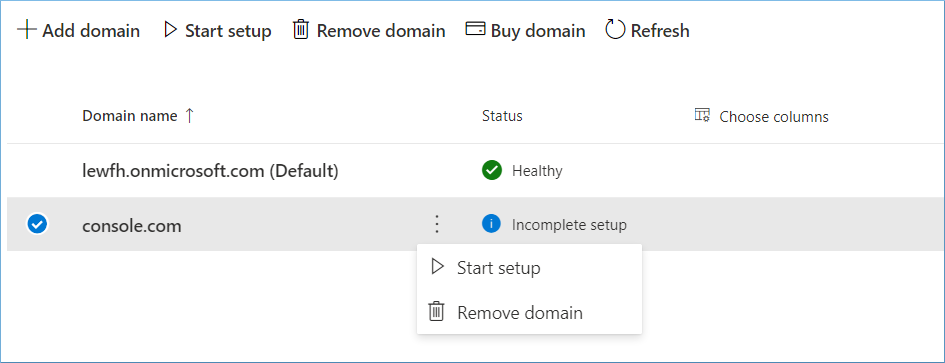 Remove domain