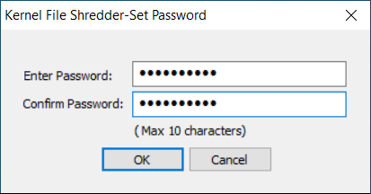 Add the password and confirm it