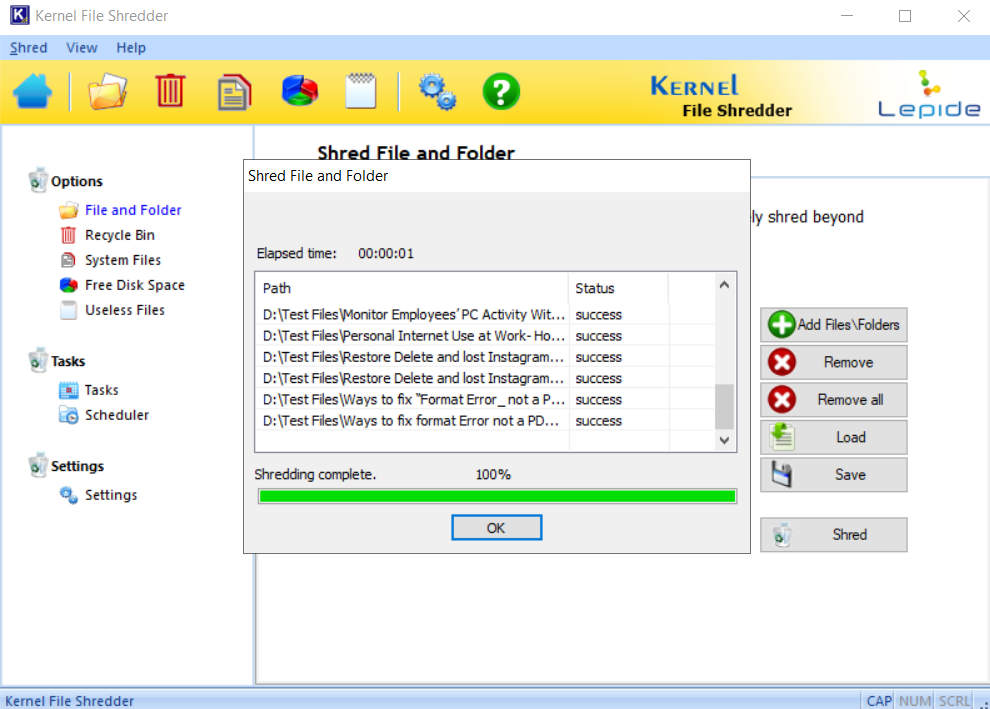 After finishing the process close the software