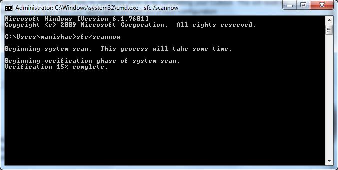 type sfc / scannow