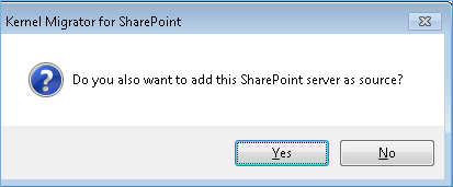 add the SharePoint Server as the Source