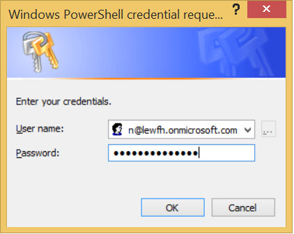 input the credentials of your Office 365 account