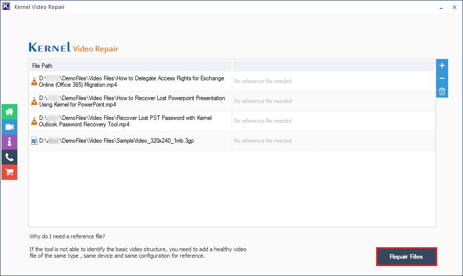click 'Repair Files
