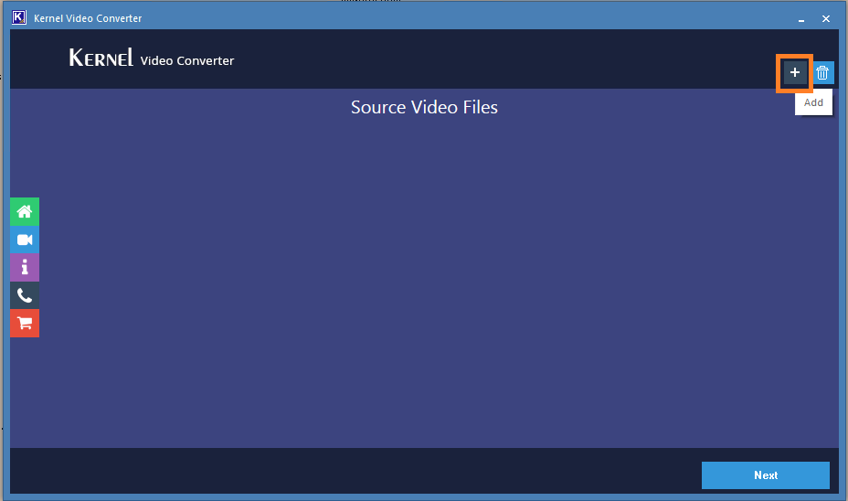 Run Video Converter and FLV file