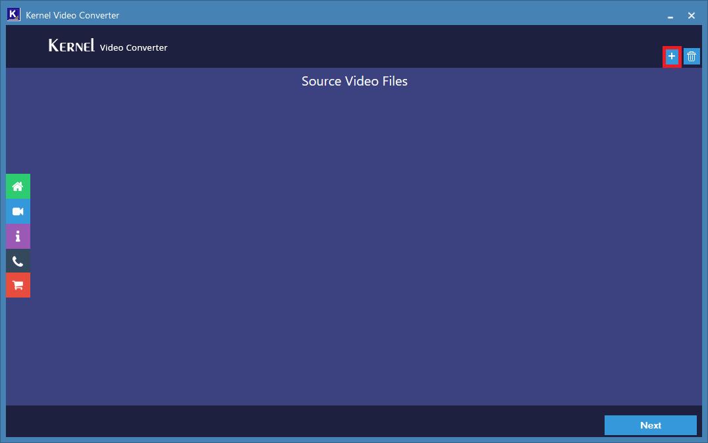 Run the Video converter tool