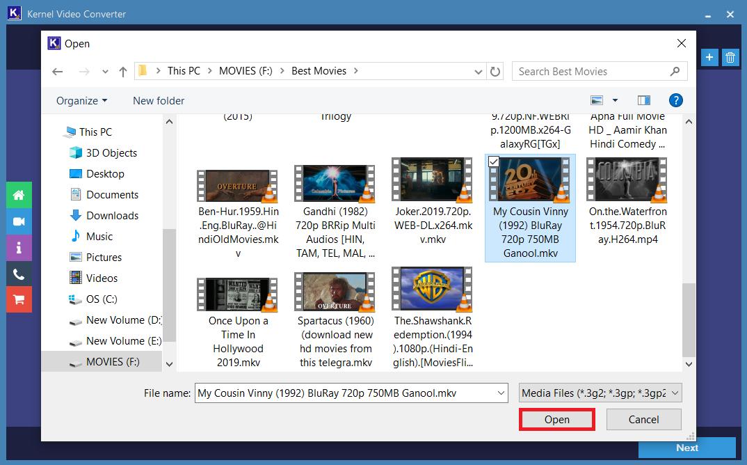 add the video file