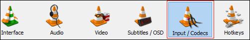 Select Input/Codecs