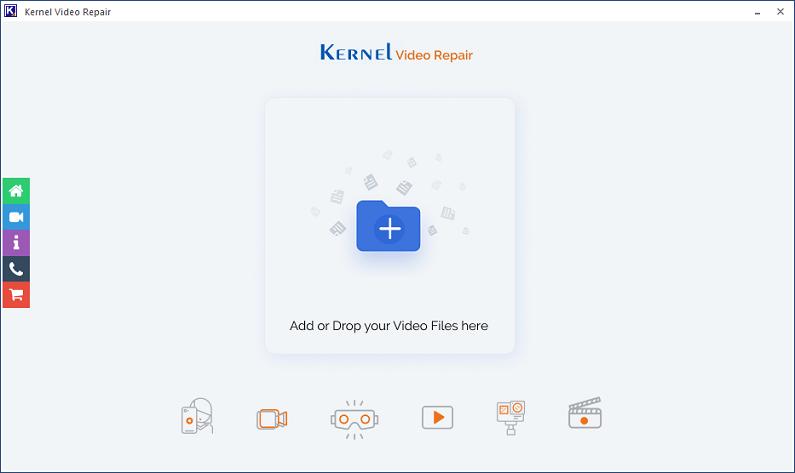 Home Screen - Kernel Video Repair Tool