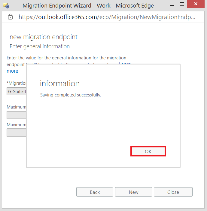 New migration endpoint is created