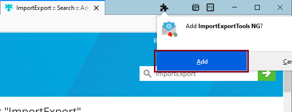 add the ImportExportTools NG