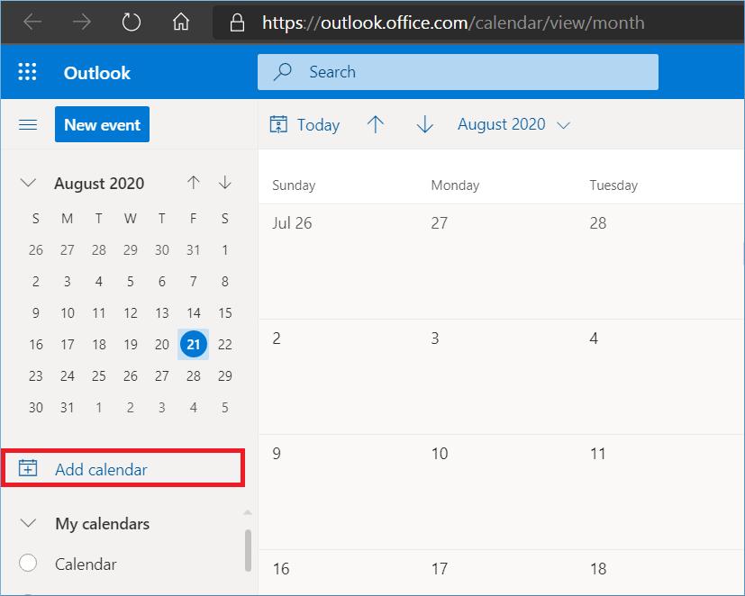 add the calendar