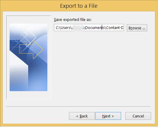 Provide location to save CSV file