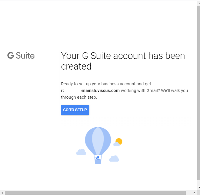 Go to Setup G Suite