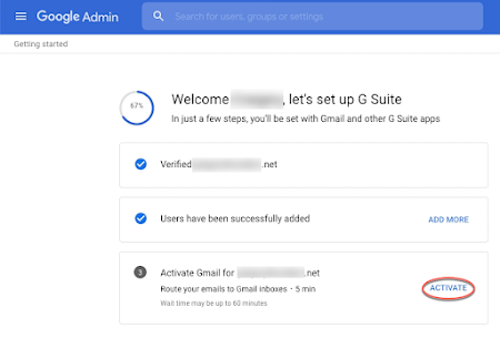 Activate gmail section