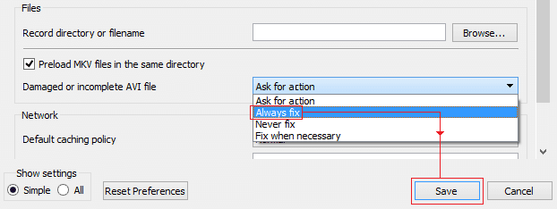 select Always fix