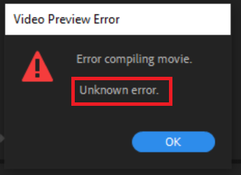 Error Compiling Movie. Unknown Error