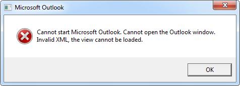 error in a pop-up window