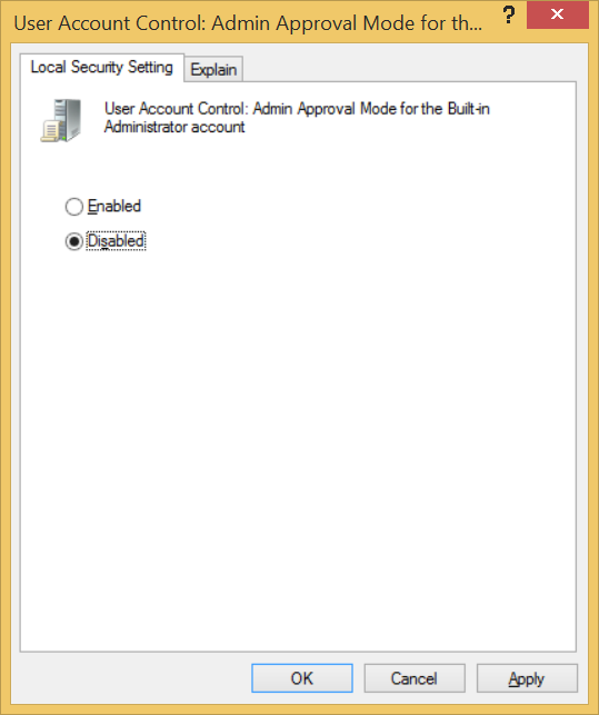 Local Security Settings