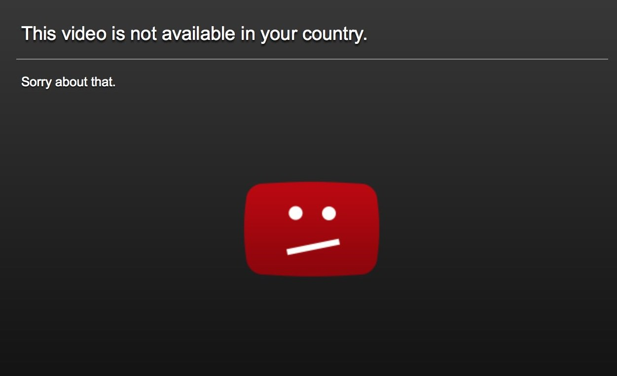 The video is not available in your country