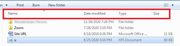 Sort Files with Explorer Details Pane