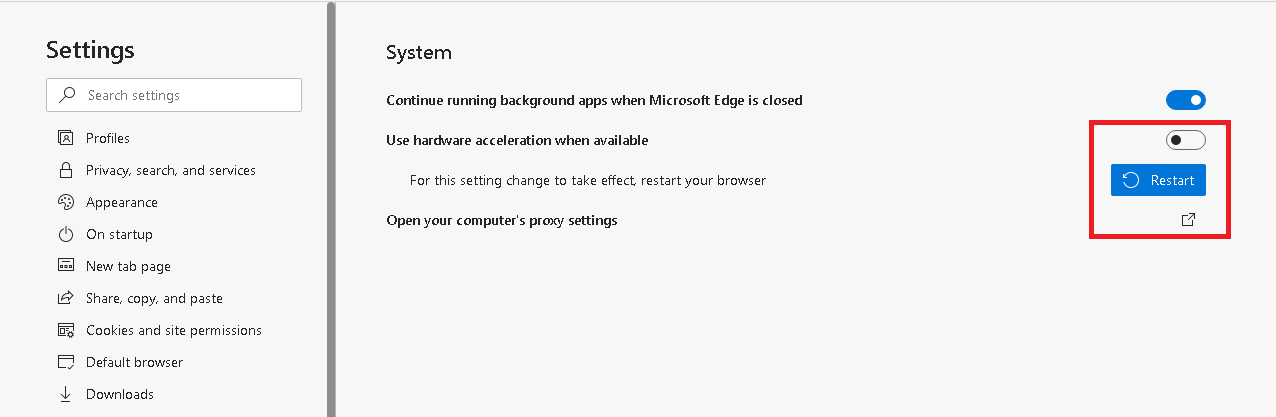 Use hardware acceleration when enable