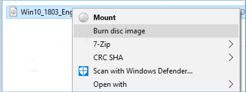 Burning an ISO image to disk
