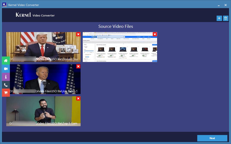 remove video file