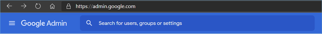 Login to G Suite account