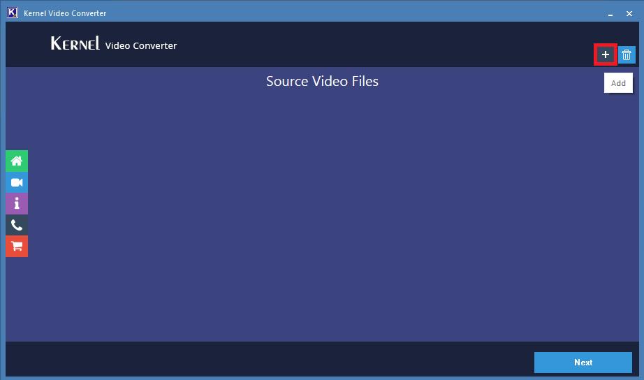 add the MP4 video file