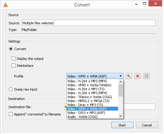convert the video file