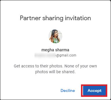 click accept