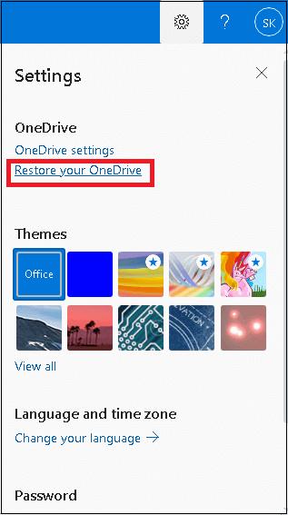 Restore your OneDrive