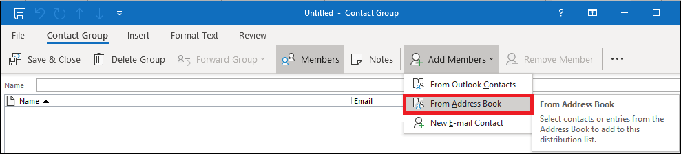 Add Members section