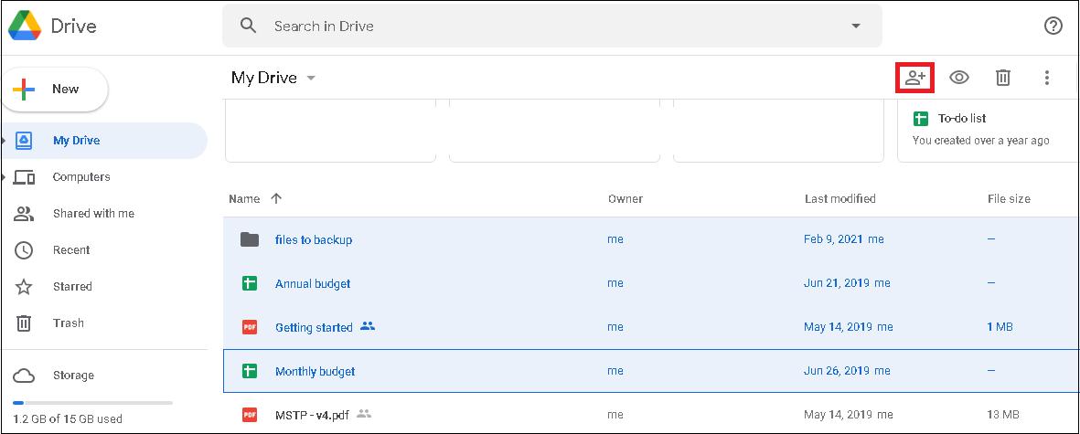 Select Share Files option