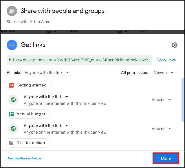 complete the public sharing of files