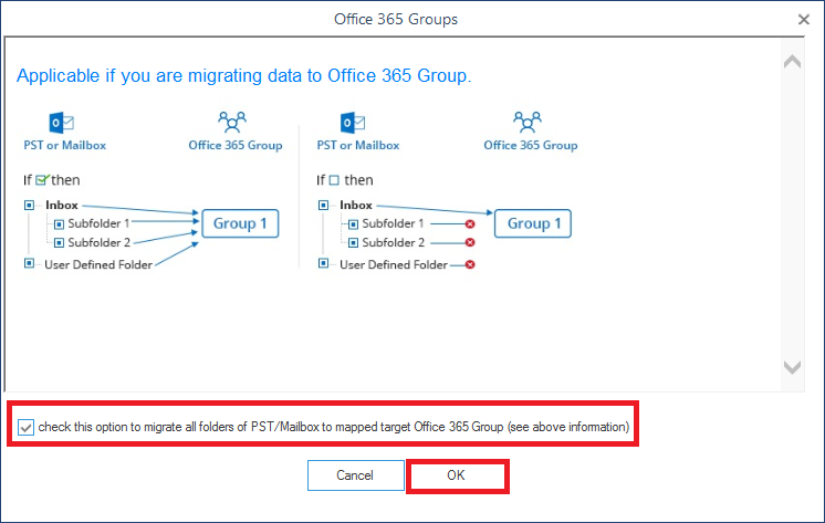 choose the Office 365 Group as a direct destination