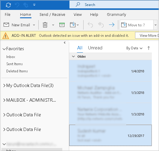 Open the Outlook application