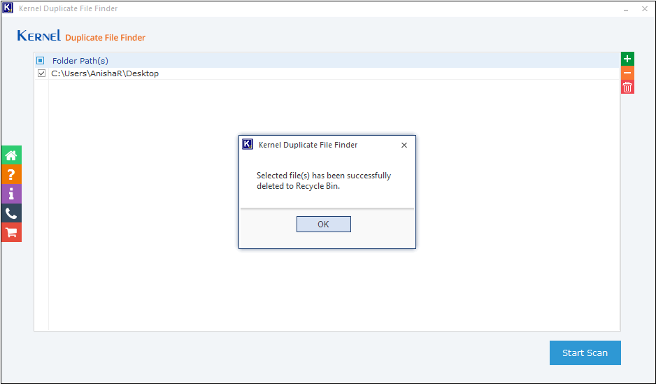 duplicate files have been successfully removed