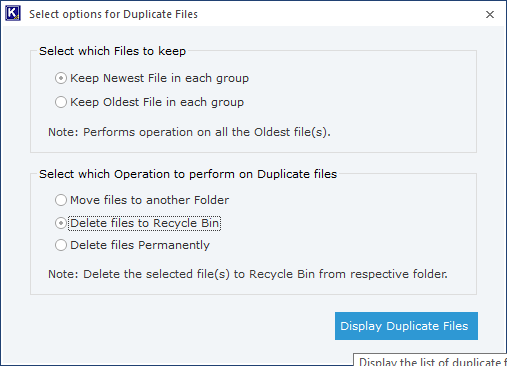 manage the duplicate MP4 files
